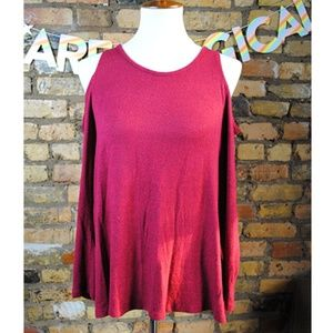 ACEMI Cold Shoulder Top